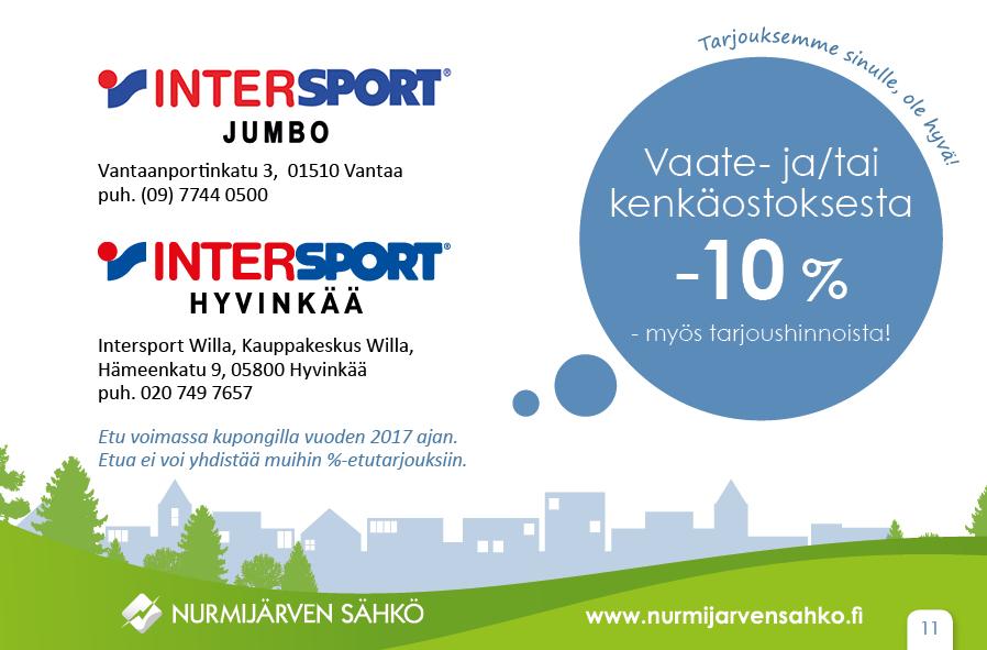 Intersport-vaateale