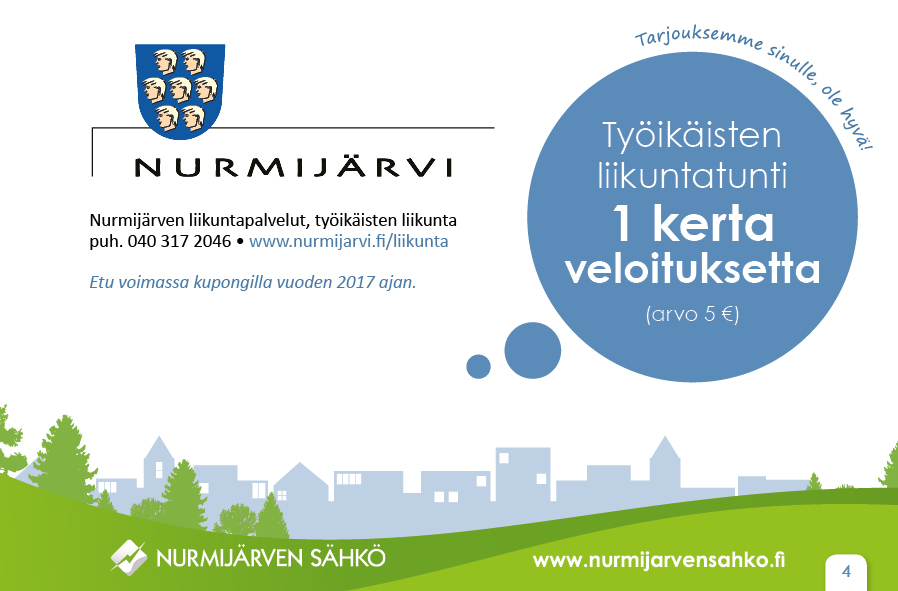 Nurmijärven liikuntapalvelut-työikäisten näytetunti